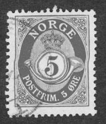 Briefmarke aus Norwegen